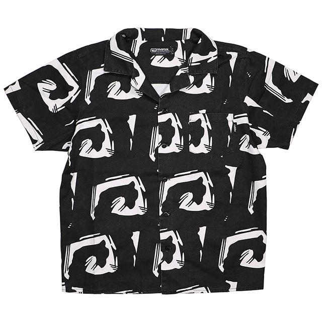(リバーサル) REVERSAL EDO BIG MARK SHIRTS (SS:SHIRT)(rv18ss033-BK) シャツ 半袖 ボタン 国内正規品