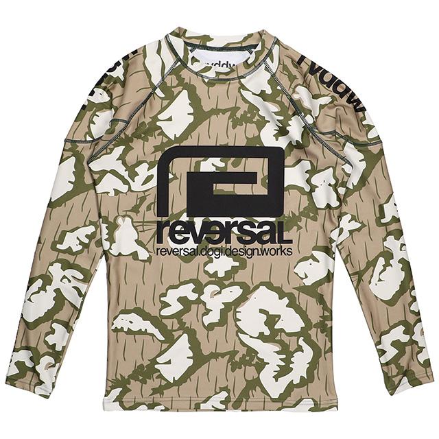 (リバーサル) REVERSAL rvddw LONG RASH GUARD (LS:TEE)(rvbs017-B.CA) ロンT 長袖 ラッシュガード 国内正規品