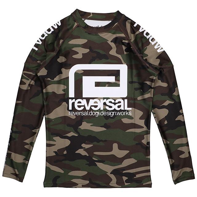 (リバーサル) REVERSAL rvddw LONG RASH GUARD (LS:TEE)(rvbs017-W.CA) ロンT 長袖 ラッシュガード 国内正規品