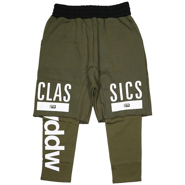 (リバーサル) REVERSAL CLASSICS LAYERED SHORT PANTS (SS:PANTS)(rv18aw009-OL) ボトムス ショートパンツ レイヤードスウェット 国内正規品