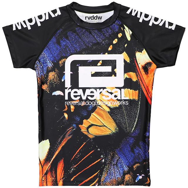 (リバーサル) REVERSAL BUTTERFLY RASH GUARD (SS:TEE)(rv19ss038-BF) Tシャツ 半袖 ラッシュガード 国内正規品
