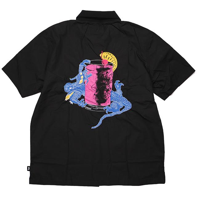 (ステューシー) STUSSY DRAGON COCKTAIL SHIRT (SS:SHIRT)(1110056-BK) シャツ 半袖 国内正規品