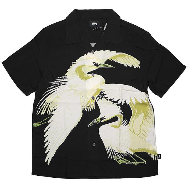 (ステューシー) STUSSY BIG CRANE SHIRT (SS:SHIRT)(1110054-BK) シャツ 半袖 国内正規品
