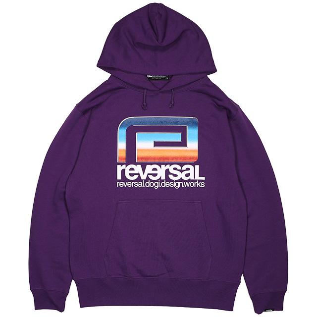 (リバーサル) REVERSAL RETRO FUTURE BIG MARK SWEAT PARKA (HOODED)(rv19aw014-PU) パーカー プルオーバー 国内正規品