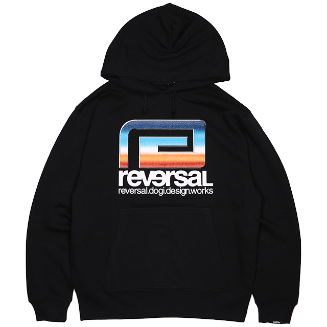 (リバーサル) REVERSAL RETRO FUTURE BIG MARK SWEAT PARKA (HOODED)(rv19aw014-BK) パーカー プルオーバー 国内正規品