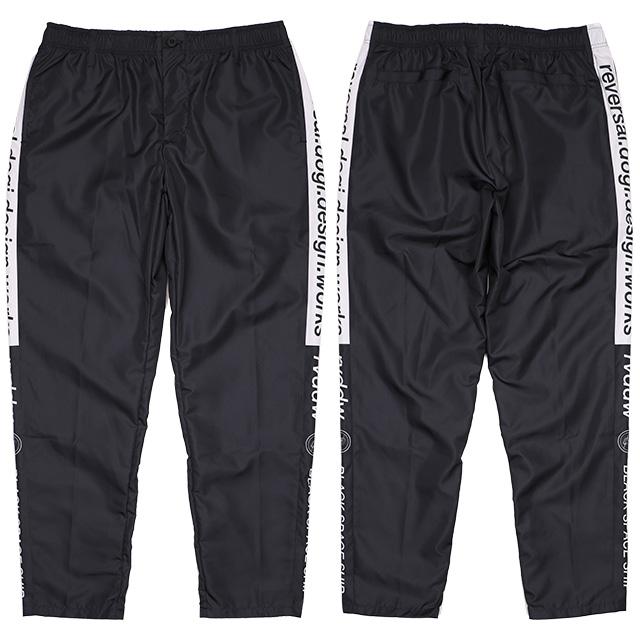 (リバーサル) REVERSAL 80s 90s SIDE LINE WARMUP PANTS (LS:PANTS)(rv19aw012-BK) ボトムス ロングパンツ ナイロン セットアップ 国内正規品