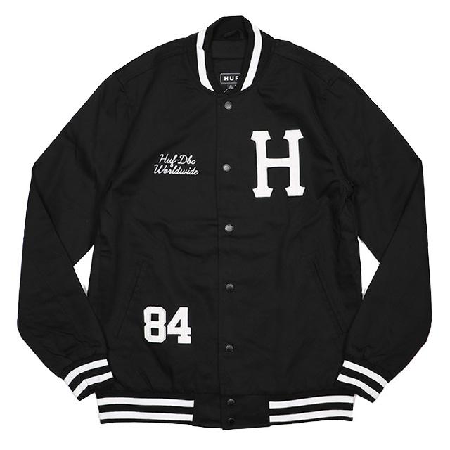 (ハフ) HUF CLASSIC H VARSITY JACKET (JACKET)(JK63010FA16-BK) ジャケット アウター 国内正規品