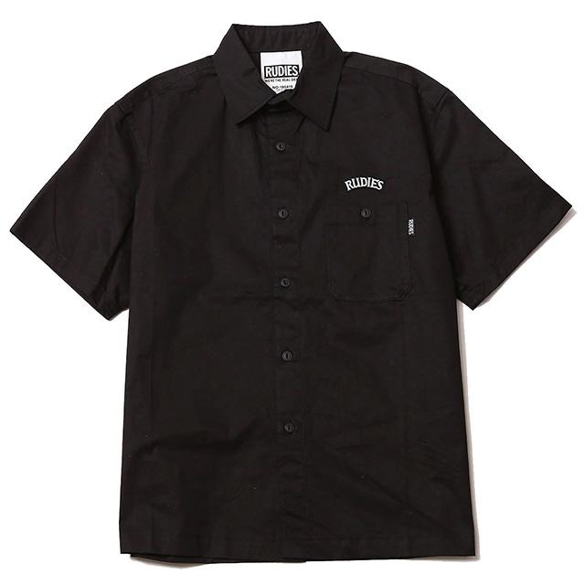 (ルーディーズ) RUDIE'S HOOK WORK SHIRTS (SS:SHIRT)(84668-BK) シャツ 半袖 ボタン 国内正規品