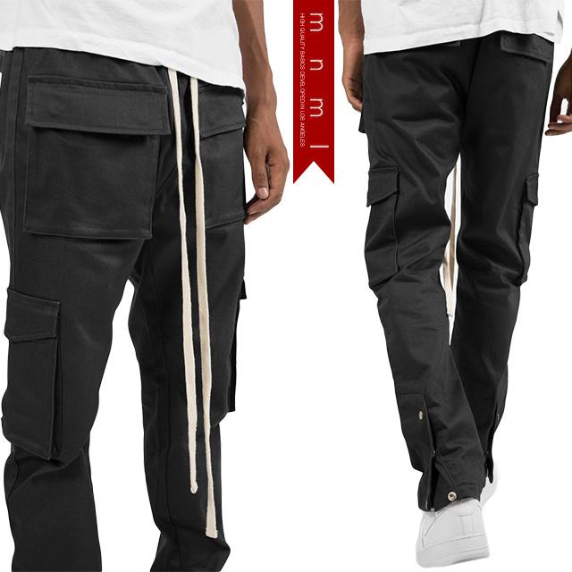 (ミニマル) mnml SNAP CARGO PANTS BLACK (LS:PANTS)(COLOR:BK) ボトムス ロングパンツ ジーンズ ストレッチ スナップ カーゴ ブラック 国内正規品