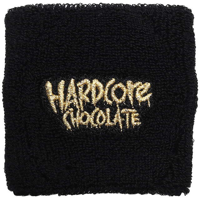 (ハードコアチョコレート) HARDCORE CHOCOLATE フルメルティッド・リストバンド (金角ゴールド)(WRISTBAND)(HGCC1229-BK×GO) リストバンド 腕輪 国内正規品