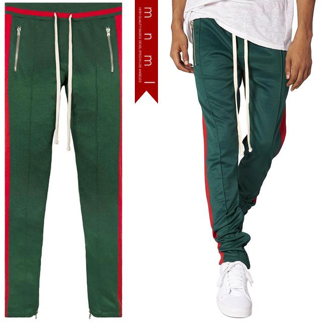 (ミニマル) mnml TRACK PANTS GREEN RED (LS:PANTS)(COLOR:GE×RE) ボトムス ロングパンツ トラックパンツ ジャージ グリーン レッド 国内正規品