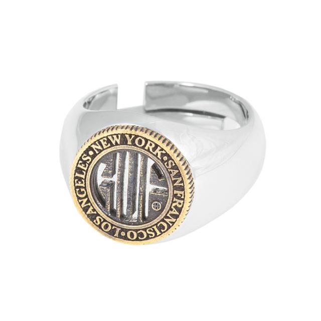 記念日 ハフ HUF REGIONAL 捧呈 RING AC80084-SV×GO 指輪 日本限定アイテム リング 国内正規品