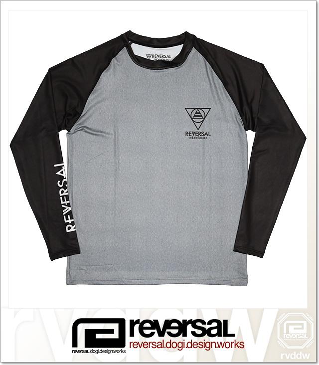 (リバーサル) REVERSAL RAGLAN LONG SLEEVE RASH GUARD (RUSH GUARD)(rvsf16ss016-GR×BK) ロンT 長袖 ラッシュガード 国内正規品