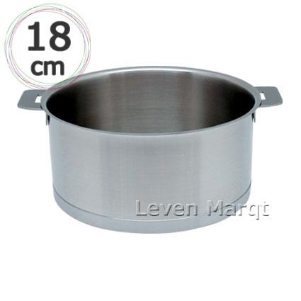 【送料無料】クリステル CRISTEL 両手鍋 L深鍋(フタ無し) 18cm【IH対応/ステンレス/10年保証】