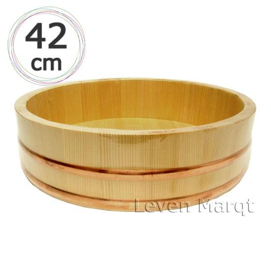 飯台 (木曽さわら) 42cm 約1.5升【寿司桶/飯切り/すし桶】