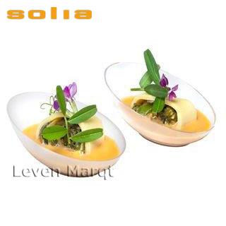 ソリア solia コクーン 200個入りクリア【ケータリング/プラスチック容器/使い捨て食器】