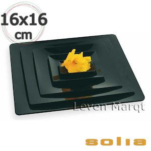 ソリア solia フルイド 160×160mm 100枚入り(選べる2色)【ケータリング/プラスチック容器/使い捨て食器】