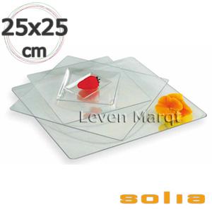 ソリア solia フルイド 250×250mm 50枚入り(選べる2色)【ケータリング/プラスチック容器/使い捨て食器】