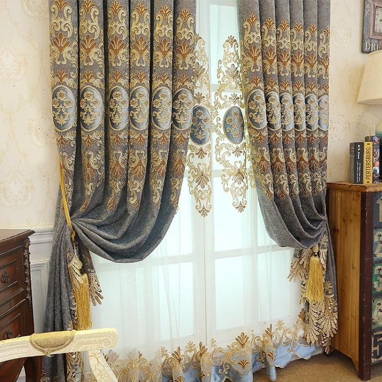 カーテン 幅200cm 刺繍カーテン 可愛い 遮光カーテン 遮光 オーダーカーテン おしゃれ 西海岸 和風 姫風 刺繍柄 高級