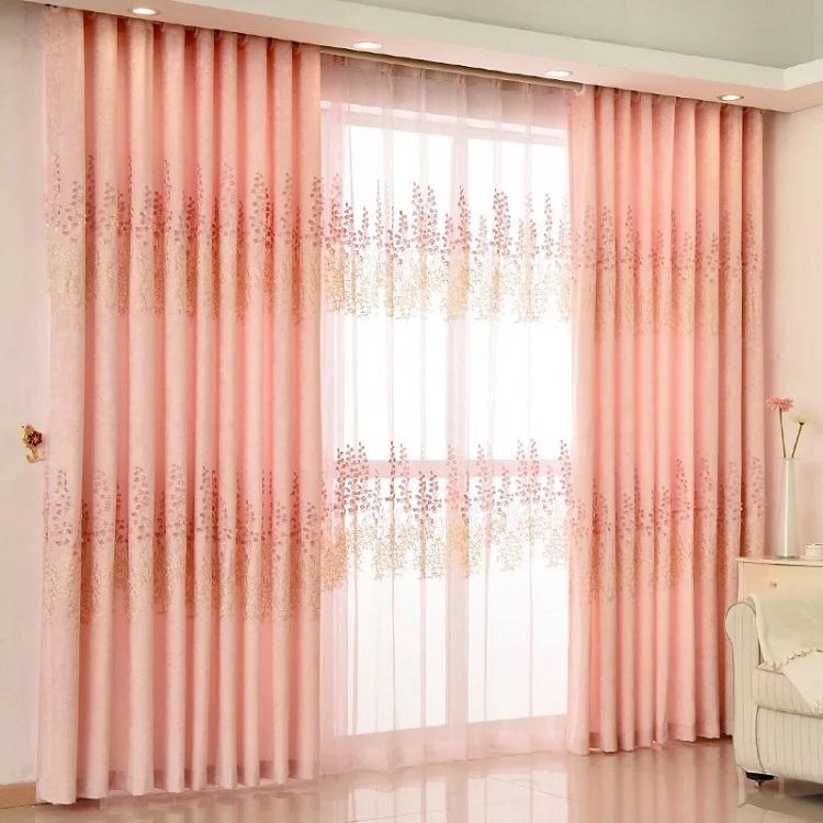 Leyカーテン 刺繍レースカーテン おしゃれ 高級 UVカット オーダーカーテン、レースカーテン とても綺麗 2倍ヒダタイプ サイズ:幅50~100cm×丈50~260cm リビング、客室、子供部屋、寝室に合うタイプ