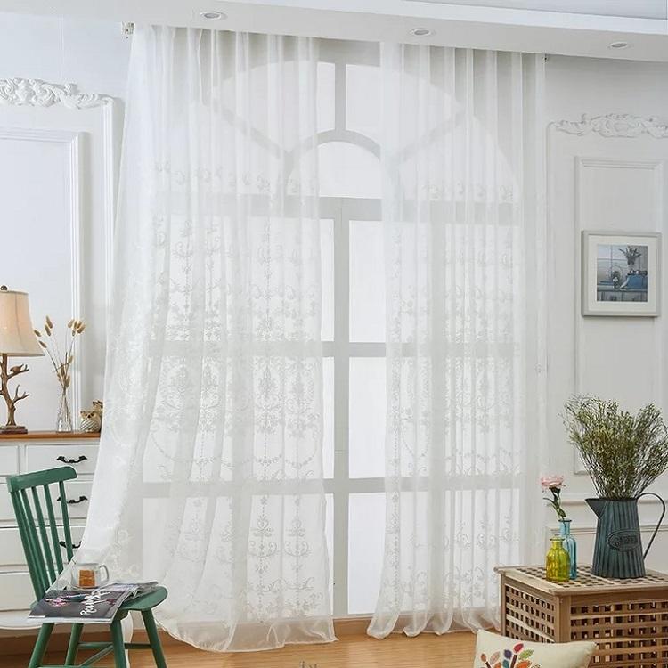 Leyカーテン 刺繍レースカーテン 外から見えにくいタイプ どんなドレープカーテンにも合いそうなデザイン おしゃれ 綺麗 フランス風 西欧風