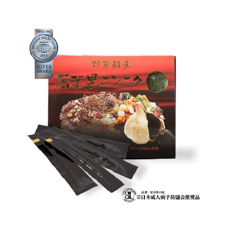 野草酵素 萬葉 黒にんにく 濃縮練り(6g×30包)