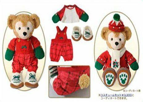 ディズニー クリスマス 2013 グッズ東京ディズニーシー限定 2013.11.1 発売 クリスマスウィッシュ ダッフィー・コスチューム(オーバーオールセット)