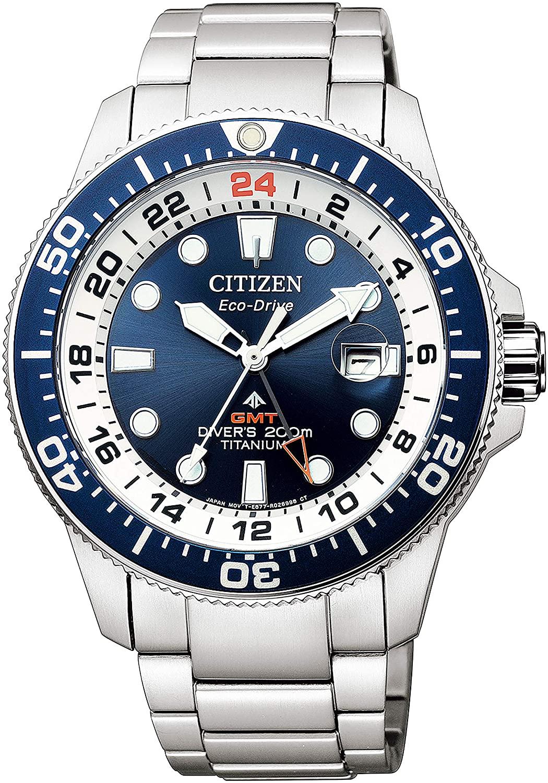メンズ 腕時計 新品 正規品 新色追加して再販 超目玉 CITIZEN シチズン PROMASTER プロマスター マリンシリーズ エコ GMTダイバー BJ7111-86L ドライブ