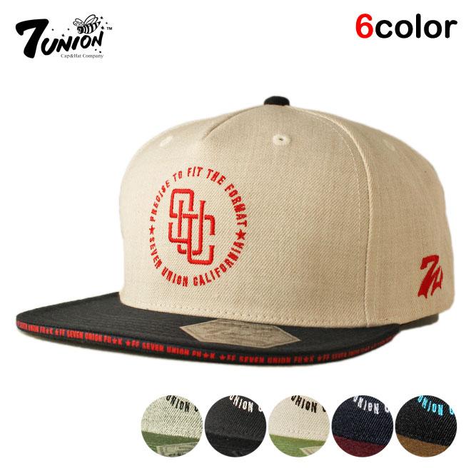THE INTERPOSE セブンユニオン 7UNION スナップバックキャップ 帽子 メンズ wt ol bk NEW gy レディース あす楽 大決算セール フリーサイズ
