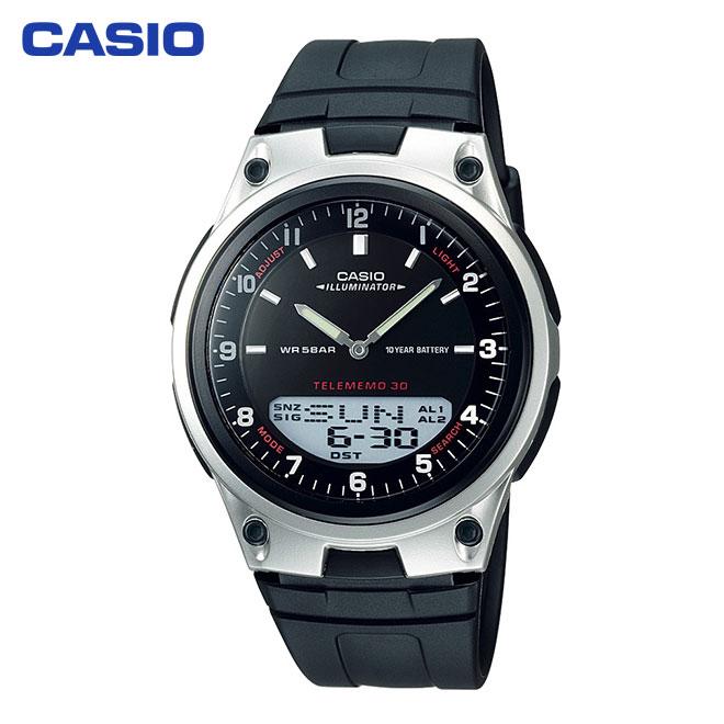 AW-80-1AJH 電池寿命約10年の長寿命バッテリーシステム カシオ コレクション 腕時計 メンズ レディース Collection bk 防水 全国どこでも送料無料 激安☆超特価 CASIO 国内正規品