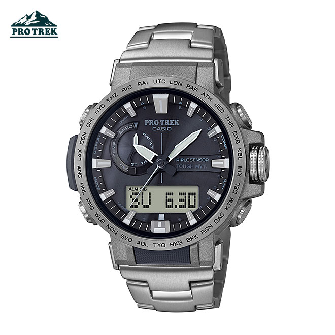 カシオ プロトレック 腕時計 メンズ レディース CASIO PRO TREK 電波 ソーラー 防水 [ 国内正規品 ] [ gy ]