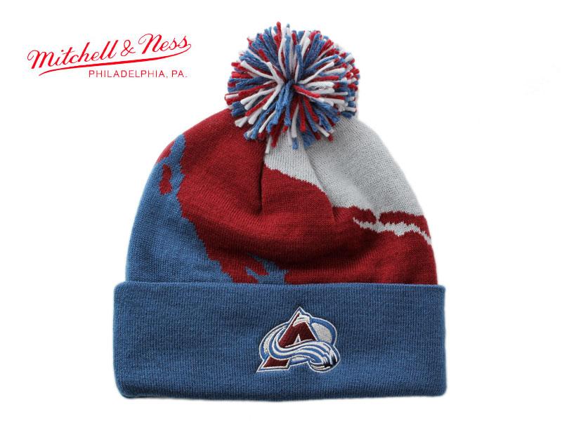 5b5b755bb2a MITCHELL  NESS Mitchell   Ness caps  Mitchell   Ness Mitchell and Ness NHL  COLORADO AVALANCHE Colorado Avalanche Cap knit hat Beanie one size fits  most ...