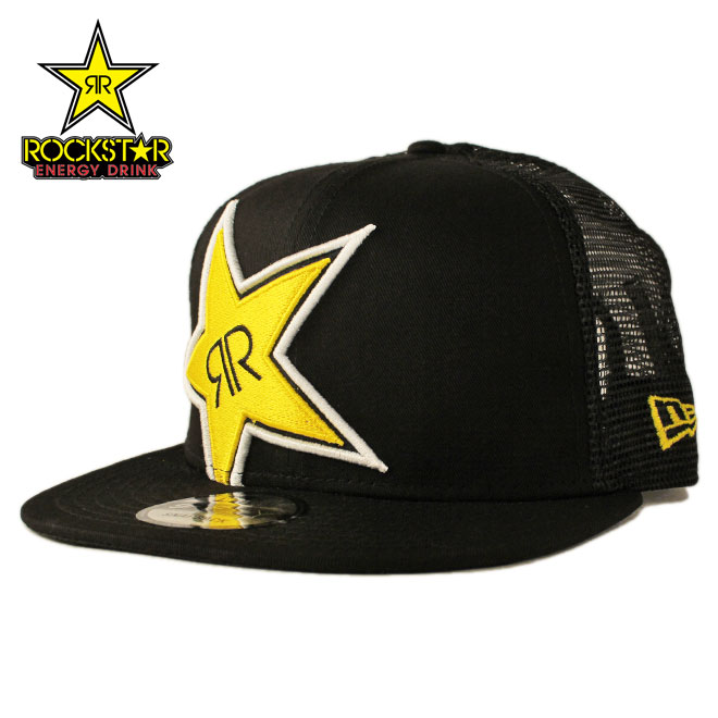 8a36c7e4447 ROCKSTAR ENERGY DRINK rock star energy drink new gills mesh cap  new era cap  newera 9fifty collaboration hat cap snapback men gap Dis adjustable size    bk