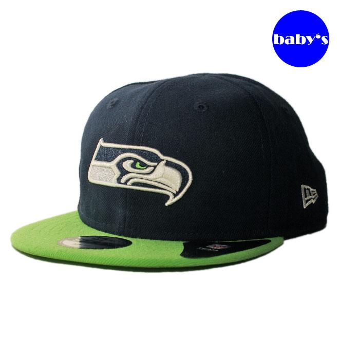 【子供用 幼児】 ニューエラ スナップバックキャップ 帽子 NEW ERA 9fifty ベビー NFL シアトル シーホークス フリーサイズ [ nv ]