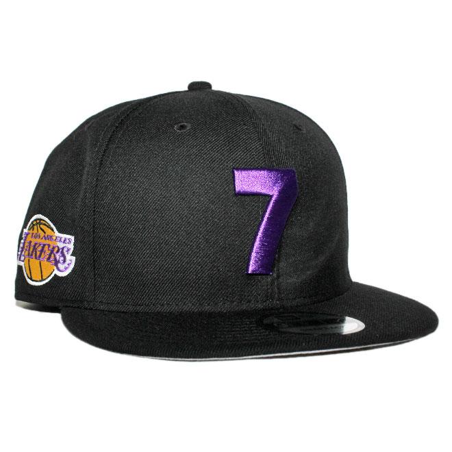 ニューエラ コンパウンド コラボ スナップバックキャップ 帽子 NEW ERA THE COMPOUND 9fifty メンズ レディース NBA ロサンゼルス レイカーズ フリーサイズ [ bk ]
