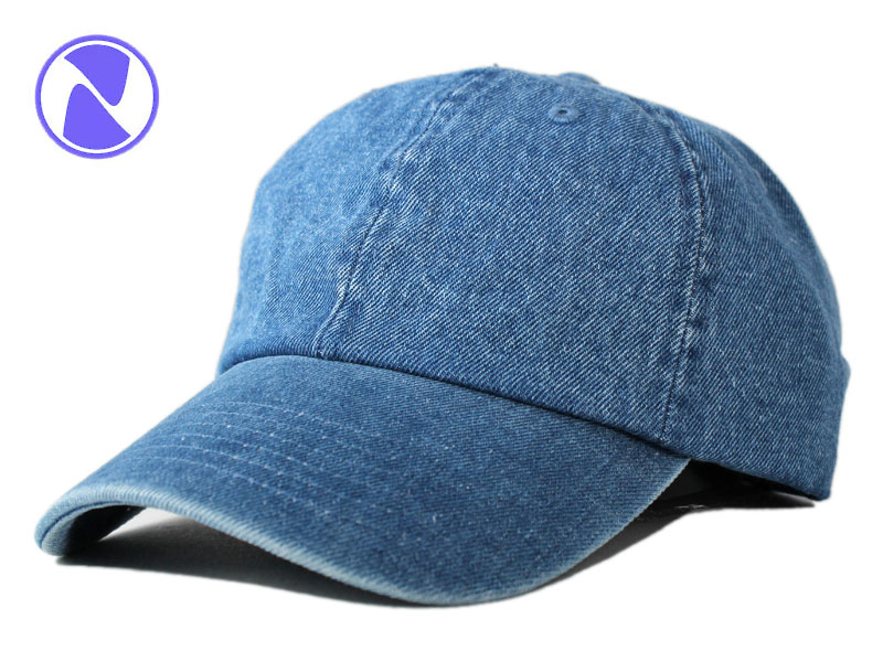 NEWHATTAN new Hatten strap back Cap large cap low profile Cap blank plain  denim simple size hats men women fa2b16ef89de