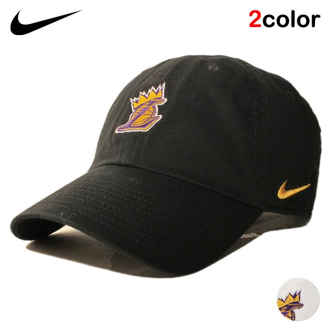 ナイキ ストラップバックキャップ 帽子 メンズ レディース NIKE レブロン ジェームス NBA ロサンゼルス レイカーズ フリーサイズ [ wt bk ]