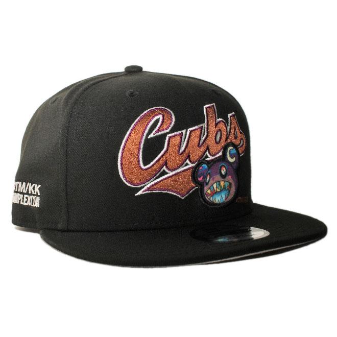 ニューエラ 村上隆 カイカイキキ コンプレックスコン コラボ スナップバックキャップ 帽子 NEW ERA TAKASHI MURAKAMI KAIKAI KIKI COMPLEXCON TM/KK 9fifty メンズ レディース MLB シカゴ カブス フリーサイズ [ bk ]