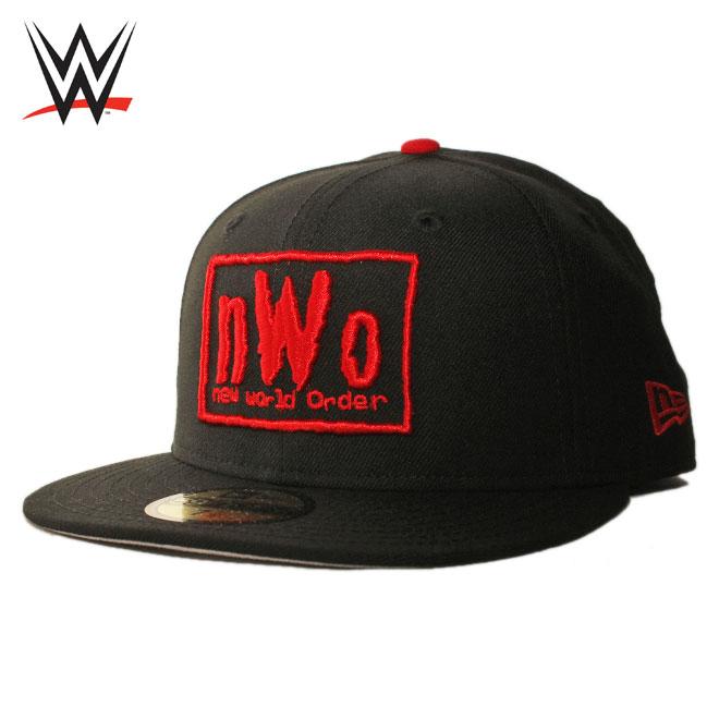 ニューエラ ダブリューダブリューイー コラボ ベースボールキャップ 帽子 NEW ERA ニュー ワールド オーダー nWo WWE 59fifty メンズ レディース 7 1/4-7 3/4 [ bk ]