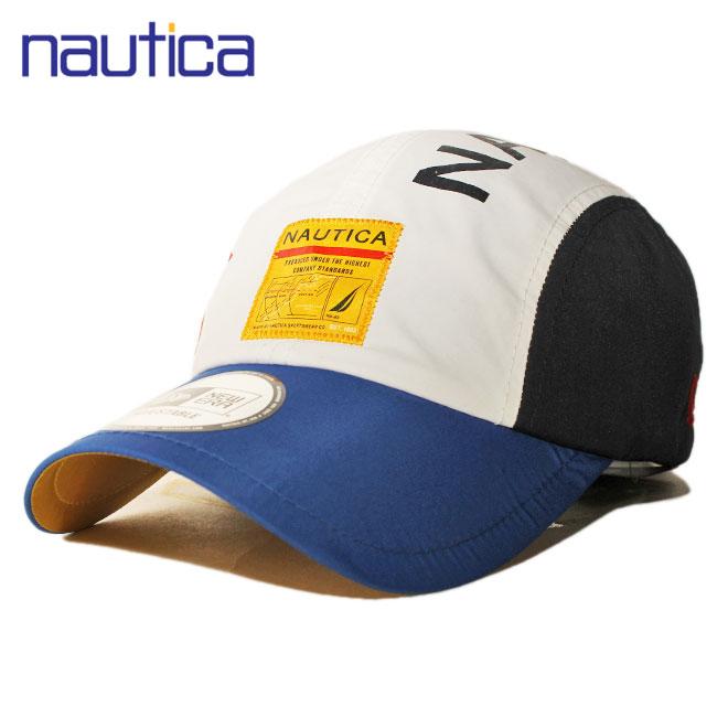ニューエラ ノーティカ コラボ キャンプキャップ ストラップバック ランナー 帽子 NEW ERA NAUTICA メンズ レディース フリーサイズ [ wt ]