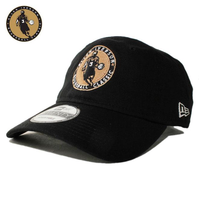 ニューエラ アイバーソン クラシック コラボ ストラップバックキャップ 帽子 NEW ERA IVERSON CLASSIC 9twenty メンズ レディース フリーサイズ [ bk ]