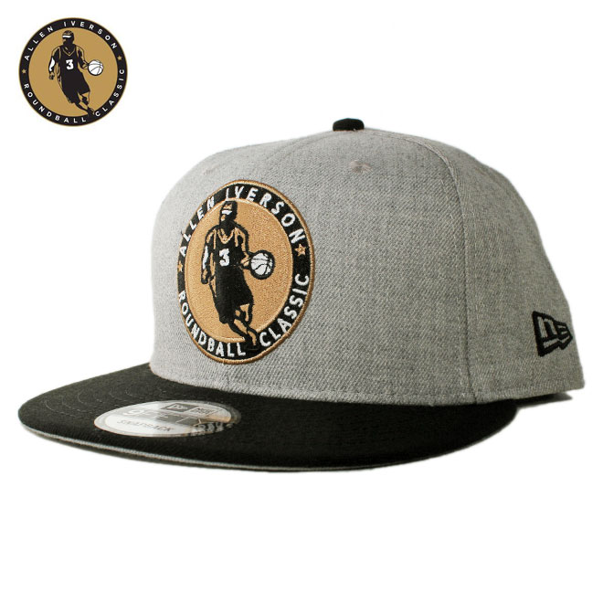 ニューエラ アイバーソン クラシック コラボ スナップバックキャップ 帽子 NEW ERA IVERSON CLASSIC 9fifty メンズ レディース フリーサイズ [ gy ]