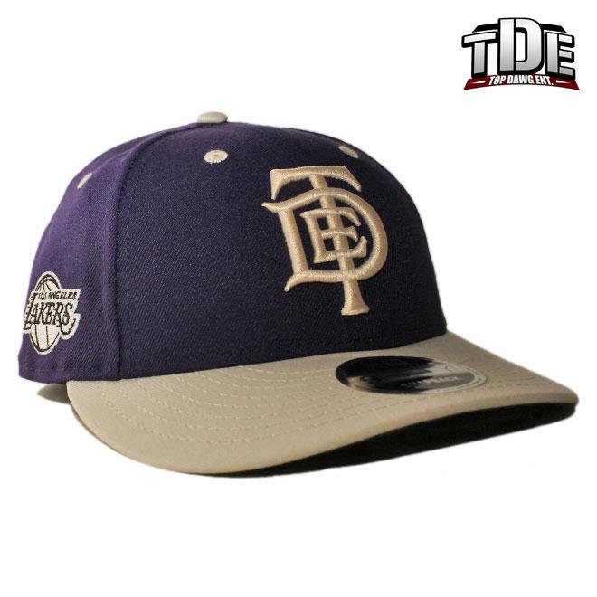 ニューエラ TDE コラボ スナップバックキャップ 帽子 NEW ERA TOP DAWG ENTERTAINMENT 9fifty メンズ レディース NBA ロサンゼルス レイカーズ フリーサイズ [ vt ]