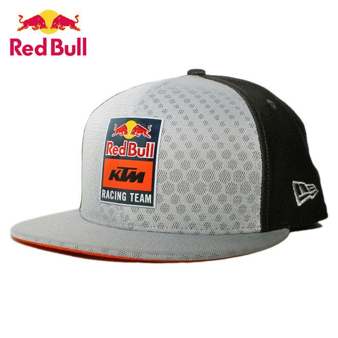 ニューエラ レッドブル KTM レーシングチーム コラボ スナップバックキャップ 帽子 NEW ERA RED BULL KTM RACING TEAM 9fifty メンズ レディース リフレクター M/L [ gy ]
