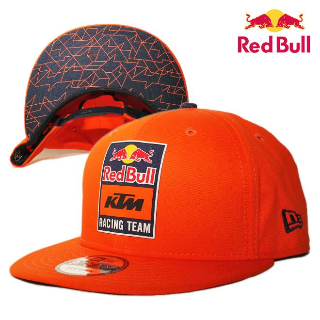ニューエラ レッドブル KTM レーシングチーム コラボ スナップバックキャップ 帽子 NEW ERA RED BULL KTM RACING TEAM 9fifty メンズ レディース M/L [ or ptn ]
