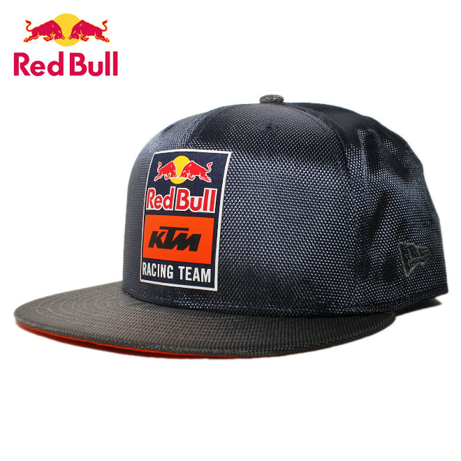 ニューエラ レッドブル KTM レーシングチーム コラボ スナップバックキャップ 帽子 NEW ERA RED BULL KTM RACING TEAM 9fifty メンズ レディース M/L [ nv ]