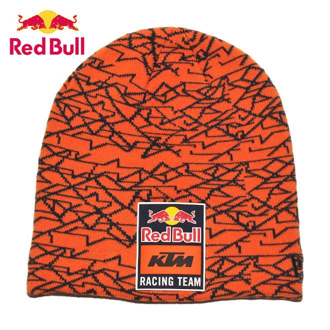 ニューエラ レッドブル KTM レーシングチーム コラボ ニット帽 ビーニーキャップ 帽子 NEW ERA RED BULL KTM RACING TEAM メンズ レディース ワンサイズ [ or ptn ]