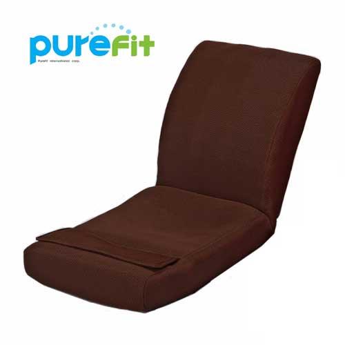 【送料無料】【ポイントUP】purefit ピュアフィット 腹筋のびのび座椅子 ブラウン [PF2500] 座っているだけで理想的なS字ラインを実現 20個の突起球が刺激 通気性のいいメッシュ地
