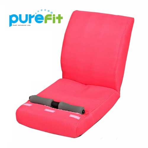 【送料無料】【ポイントUP】purefit ピュアフィット 腹筋のびのび座椅子 ピンク [PF2500] 座っているだけで理想的なS字ラインを実現 20個の突起球が刺激 通気性のいいメッシュ地