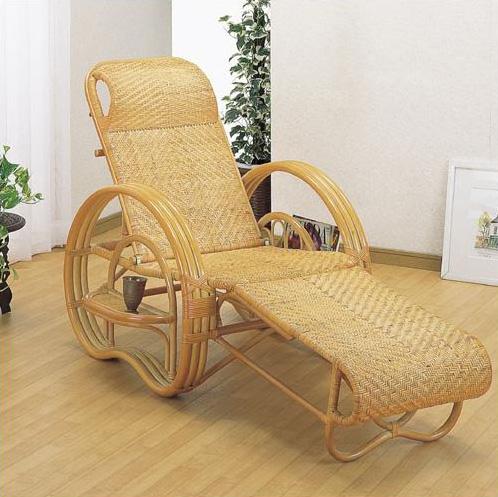 【送料無料】籐 三ツ折寝椅子 [A-200]